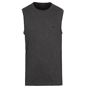 True Religion Westbrook Used Black Elongated Muscle Vest