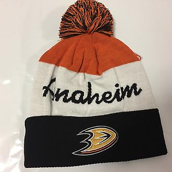 Reebok NHL Cuff Pom Winter Hat Anaheim Ducks
