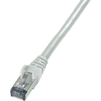 RJ49 Networks Cable CAT 6 S/FTP 30 m Grey Flame-retardant, incl. detent Goobay
