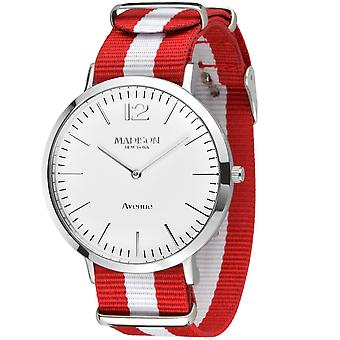 MADISON NEW YORK Unisex Uhr Armbanduhr Avenue Textil G4741G1