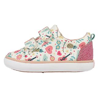 Gioseppo piger venlige Canvas sko hvid Multi