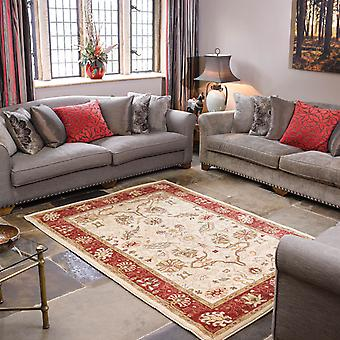 Cream & Red Ziegler Traditional Rug Arak