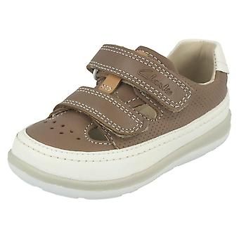 Мальчики Clarks двойной ремень первые туфли мягко мальчик ФСТ