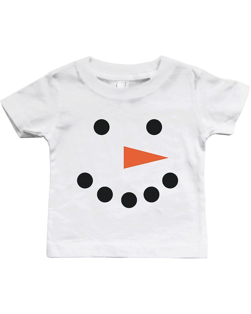 Snowman Christmas wit Baby Shirt giften van de vakantie