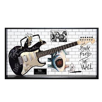 Pink Floyd Signed Guitar The Wall Custom Framed