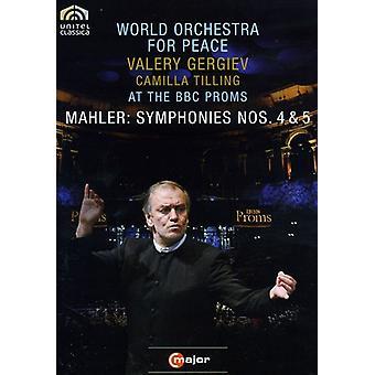 G. Mahler - importación de Estados Unidos sinfonías núms. 4 & 5 [DVD]
