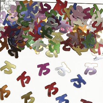 Table confetti number 75 decoration confetti birthday party