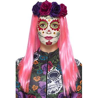 Day of the Dead Sweetheart Schmink Set 6-teilig Makeup Gesichtstattoos Wimpern