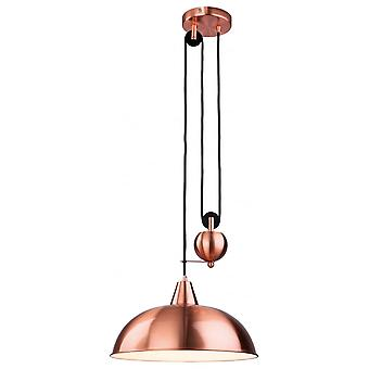 Firstlight Modern Red Copper Dome Shade Ceiling Pendant Light Fitting