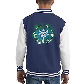 Öffnen Sie Ihre Sheikah Augen Zelda Kid Varsity Jacket