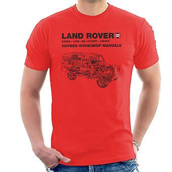 Haynes Workshop manuell Land Rover svart menn t-skjorte