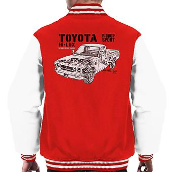 Haynes Workshop Manual Toyota Hi Lux Black Men's Varsity Jacket