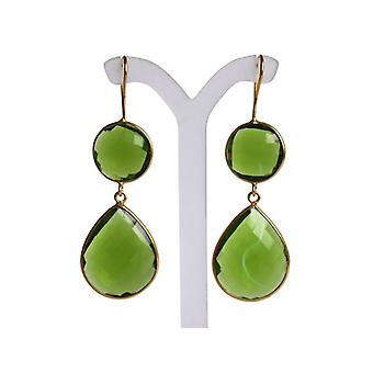 Peridot earrings green Peridot earrings 925 silver plated