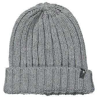 Wrangler Chunky Knit Beanie - Mid Grey Melange