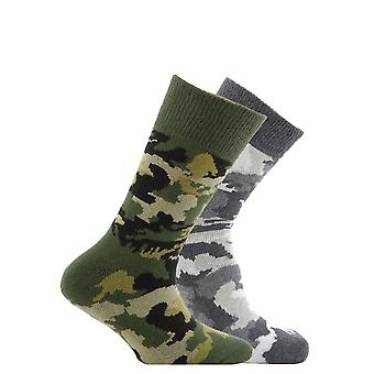 Horizon Childrens/Kids Patterned Socks (Pack Of 2)
