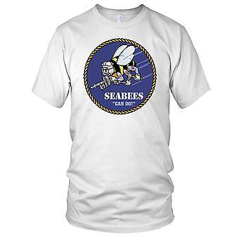 US Navy Seebees Construction Btn Clean Effect Kids T Shirt
