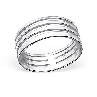Patterned - 925 Sterling Silver Plain Rings
