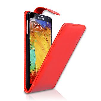 Samsung Galaxy Note 3 Leather-Effect Flip Case - Red