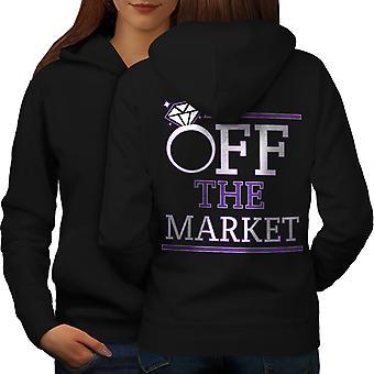 Off The Market Women BlackHoodie Back | Wellcoda