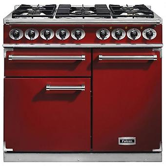FALCON F1000DXDFRDNG 98500 - 100cm Deluxe Range Cooker, Red Finish