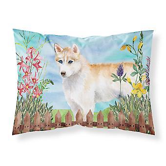 Siberian Husky Spring Fabric Standard Pillowcase