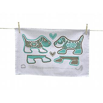 Puppy Love Tea Towel (cut out and keep)