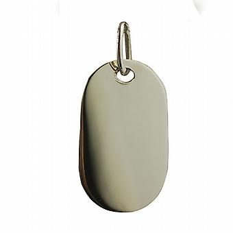 Two 9ct Gold 29x17mm plain rectangular ID Tags or Dog Tags