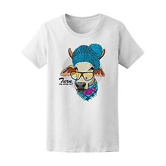 Dressed Cow With Knitted Hat Tee Women's -Image by Shutterstock