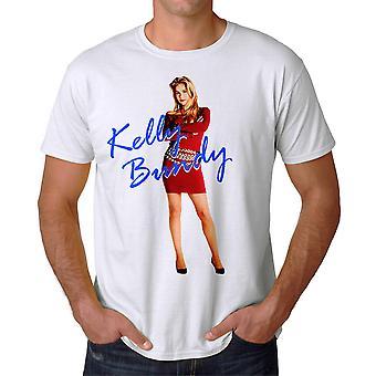 Gift med børn Kelly Red Dress mænds hvid T-shirt