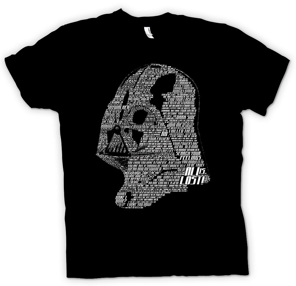 Womens T-shirt - Darth Vader Head With Quotes