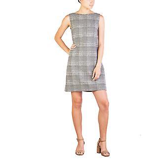 Prada Women's Virgin wol kasjmier Blend Houndstooth patroon jurk wit