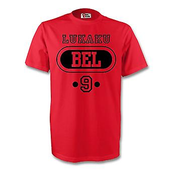 Romelu Lukaku Bélgica Bel camiseta (rojo) - niños