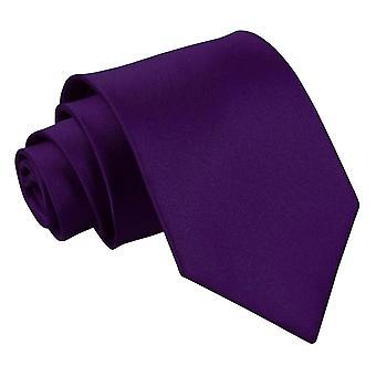Purple Plain satijn Extra lange stropdas