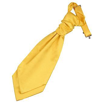 Marigold Plain Satin Pre-Tied Wedding Cravat for Boys