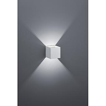 Trio Lighting Louis Modern Brushed Aluminium Aluminium Wall Lamp