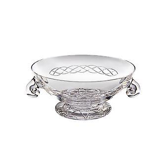 Celtic Large Crystal Glass Quaich - 200mm diameter