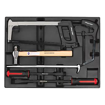 Sealey Tbt30 Tool Tray With Prybar Hammer And Hacksaw Set 6Pc