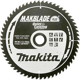 Carbide metal circular saw blade 260 x 30 x 1.8 mm Number of cogs: 60 Makita MAKBLADE B-32524 1 pc(s)