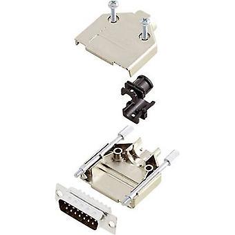 encitech DTPK-M-15-DMP-K D-SUB pin strip set 180 ° Number of pins: 15 Solder bucket 1 Set