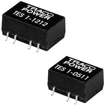 TracoPower TES 1-1212 DC/DC converter (SMD) 12 Vdc 12 Vdc 85 mA 1 W No. of outputs: 1 x