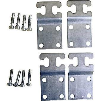 Montaje de pared de cabina de Fibox 8280002 MF placa metal MF CAB (4 PC) Metal gris (RAL 7035) Compatible con (detalles) cabina P 302