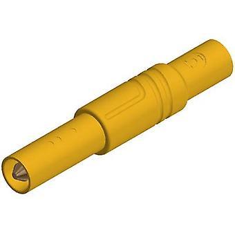 SKS Hirschmann LAS S G Straight blade safety plug Plug, straight Pin diameter: 4 mm Yellow 1 pc(s)