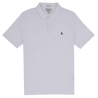 Original Penguin Slim Fit Pique Polo Shirt - Bright White