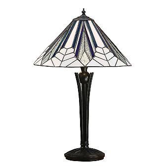 Interiör 1900 Astoria 2 ljusbord Tiffany lampa Wi