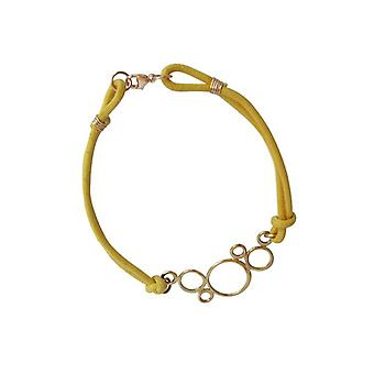 Bracelet with circles yellow bronze gold plated bangles
