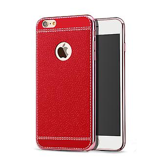 Cell phone case for Apple iPhone 8 protective case bag of bumper cases faux leather Red