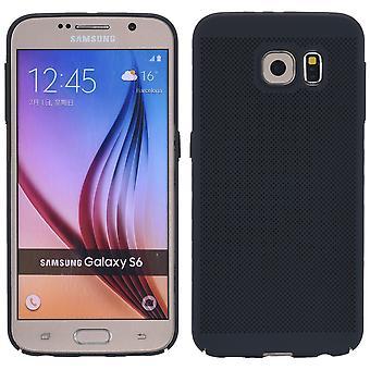 Teléfono celular caso de Samsung Galaxy S6 borde manga caja bolsa funda negro