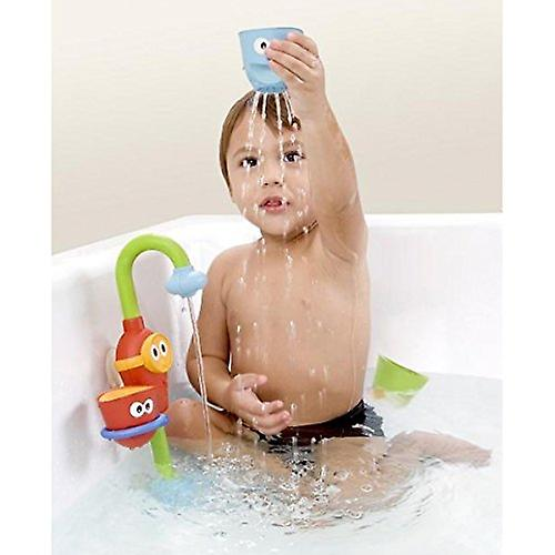 Pump Bath Toy | Battery Operated Water Pump With Hand Shower | 4 Stackable Cups & Automated Spout