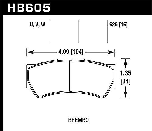 Hawk Performance HB605U.625 Disc Brake Pad