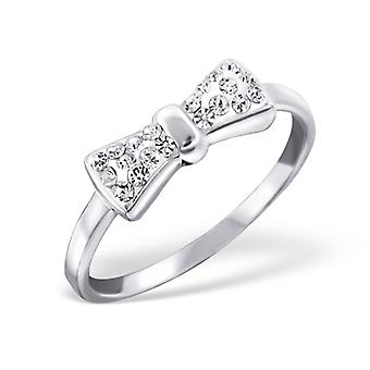 Bow - 925 Sterling Silver Cubic Zirconia Rings - W19426x